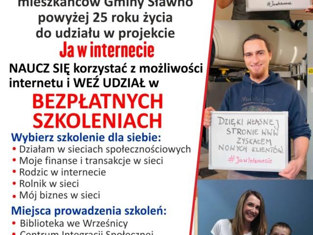 Ja w internecie - plakat - www Sławno.